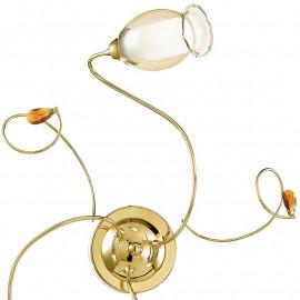Diffuseur floral en structure de verre floral en métal doré et cristaux K9