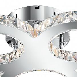 Structure de bague en métal K9 Crystals Decoration Melody Line