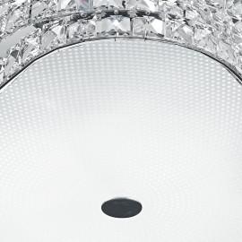 Diffuseur en verre Structure métallique et décoration K9 Cristal Fan Flamenco Fan Europe Line