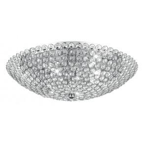 I-PLANET/PL45 - Plafoniera Elegante Cristalli K9 Metallo Cromo Lampada Tonda Interno G9