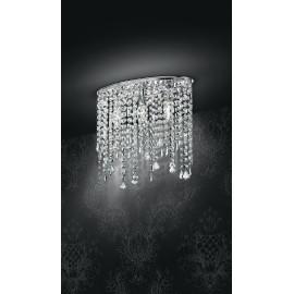 I-BREEZE / PL3 - Plafonnier ovale Pendentifs en métal K9 Crystals Classic Indoor Plafonnier E14