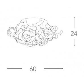 I-NABUCCO / PL6 - Plafonnier en métal...