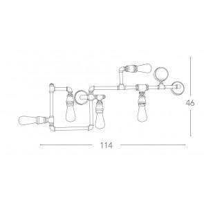 I-AMARCORD-PL5 - Plafonnier rustique...