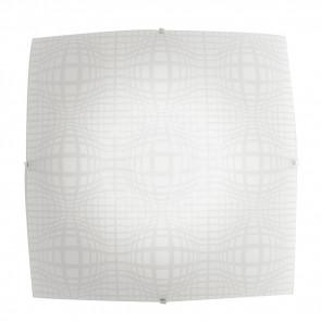 I-PROJECT / PL30 - Plafonnier Lampe Carrée Verre Design Abstrait Moderne Led 18 W Lumière Naturelle