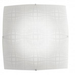 I-PROJECT/PL50 - Plafoniera Vetro Quadrata Disegno Astratto Lampada Moderna Led 46 watt Luce Naturale