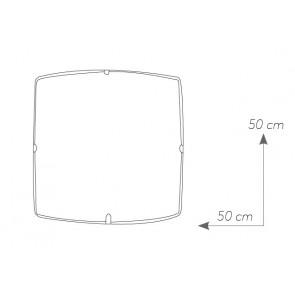 Plafonnier carré en verre Design...