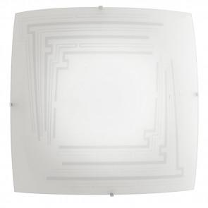 I-CONCEPT/PL30 - Plafoniera Quadrata Vetro Decoro Glitterato Lampada Moderna E27