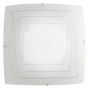 I-CONCEPT/PL40 - Plafoniera Lampada Moderna Quadrata Vetro Decoro Glitterato Soffito Parete E27