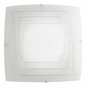 I-CONCEPT / PL50 - Plafonnier carré en verre avec décoration scintillante Lampe d'intérieur moderne E27
