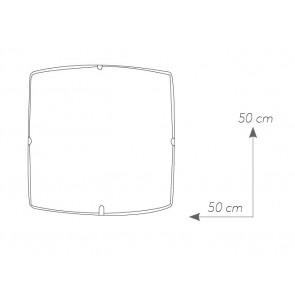 I-CONCEPT / PL50 - Plafonnier carré...