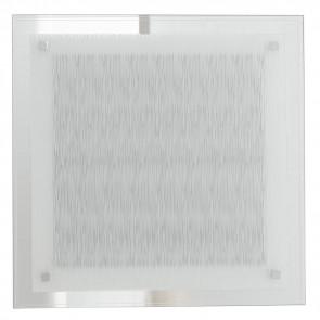 I-JOYCE/PL35 - Plafoniera Quadrata Vetro Decoro Linee Moderna Soffitto Parete Led 18 watt Luce Naturale