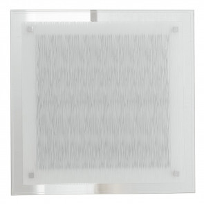 I-JOYCE/PL45 - Plafoniera Decoro Linee Quadrato Vetro Lampada Moderna Led 24 watt Luce Naturale