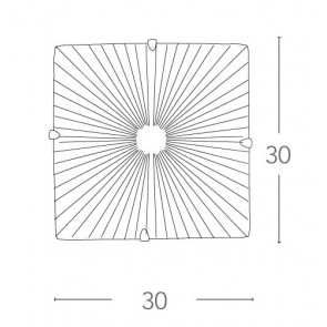 I-ISIDE / PL30 - Plafonnier carré...