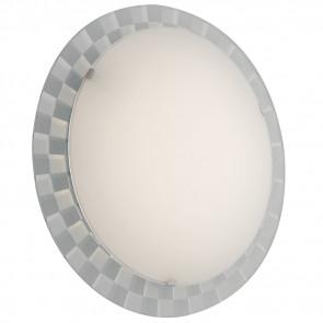 I-GLAMOUR / PL45R - Plafonnier Chess Frame Round White Glass Modern Interior Led 24 watt Natural Light