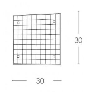 Plafonnier carré au design simple et...