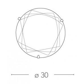 Plafonnier à décor géométrique, Rond,...