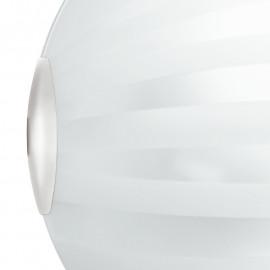 Diffusore in Vetro Bianco con Decoro a Fasce Satinate Linea Kuna FanEurope