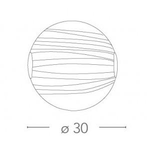 I-KUNA / PL30 - Plafonnier rond en...