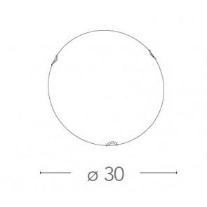 I-OBLO / PL30 - Plafonnier rond blanc...