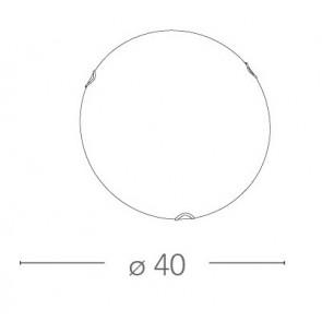 I-OBLO / PL40 - Plafonnier rond blanc...
