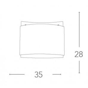 I-RIGHE / PL30 - Plafonnier carré à...