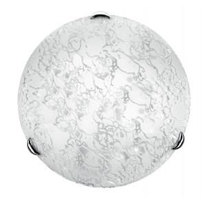 41/01312 - Plafonnier rond en verre avec décoration moderne Ice Lamp E27