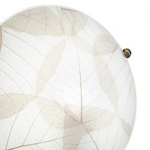 Plafonnier rond blanc motif feuille...