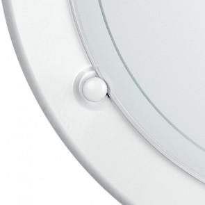 Plafonnier rond en verre blanc avec...
