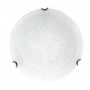 BRODERIE / 30 ANT BCO - Plafonnier Rond Décoration En Verre Satiné Classique Blanc Intérieur E27