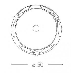 RICCIO / PL50 - Plafonnier rond...