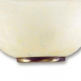 Diffusore in Vetro Marmo Ambrato con Greca Decorativa Applique Trecento FanEurope