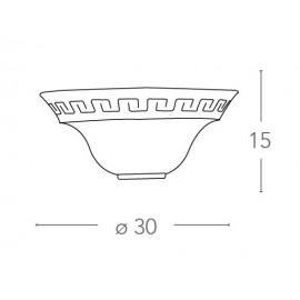 01/01212 - Applique Classica Greca Vetro Marmo Ambra Lampada da Parete E27