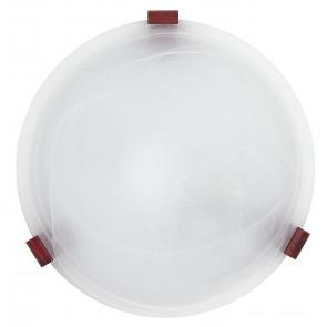 32/12012 - Plafoniera Tonda Vetro Alabastro Bianco Lampada Classica E27