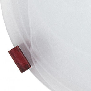 32/12012 - Plafonnier rond en verre...