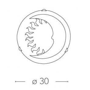 I-SOLE / PL30 - Plafonnier rond Sun...