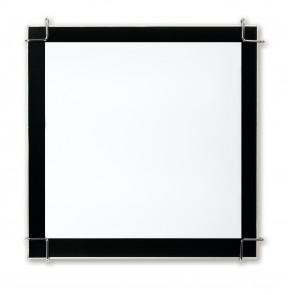 I-6233/3X36 - Plafoniera Quadrata Cornice Nera Vetro Bianco Interno Moderno PLL
