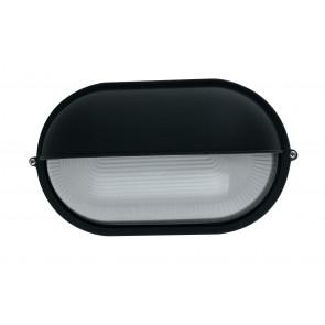 I-IBIZA-LD-NERO - Plafonnier noir avec diffuseur à paupières en aluminium E27 verre externe