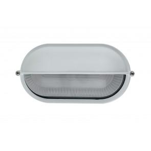 I-IBIZA-SD-BCO - Plafoniera Esterna Alluminio Bianco con Palpebra diffusore Vetro E27