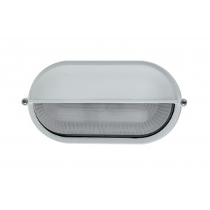 I-IBIZA-SD-BCO - Plafonnier externe en aluminium blanc avec paupière diffuseur en verre E27