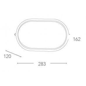 I-IBIZA-L-BCO - Plafonnier ovale...