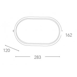Plafonnier ovale en aluminium blanc...