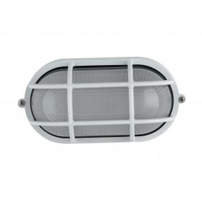 I-IBIZA-SP-BCO - Plafoniera Esterna Tenuta Stagna Alluminio Bianco con Griglia E27