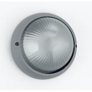 I-3072L / SILVER - Plafonnier rond en aluminium argenté verre diffuseur E27