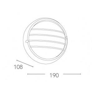 I-3074S/NERO - Plafoniera Alluminio...