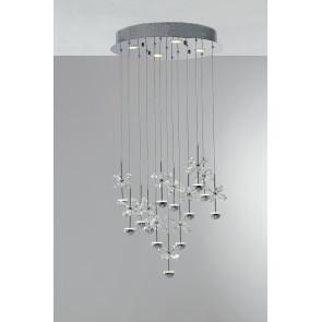 LED-BELEN-PL17 - Plafonnier Fleurs en K9 Cristal Métal Led 39 watt GU10 Natural Light