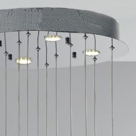 Base ronde en métal 4 lampes halogènes incluses Ligne Belel Fan Europe