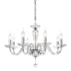 246/01100 - Lustre en verre classique pendentifs ronds K9 Crystal Interior E14