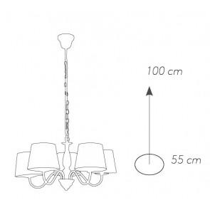 I-FAVOLA / 5 - Lustre à suspension...