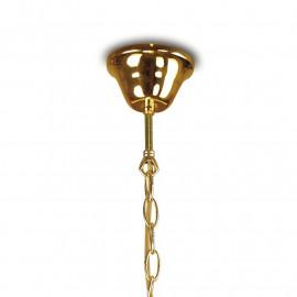 Sospensione a Catena in Metallo Oro  Linea 1162 Fan Europe