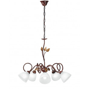 I-POESIA / 5 - Lustre suspendu Marrole Metal Leaves diffuseurs Classic Glass Interior E14